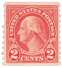1929 2c Washington, carmine, coil
