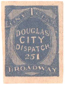 1879 1c slate blue, imperf