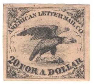 1844 5c blk, thin paper(2nd printing)