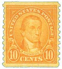 1924 10c Monroe, orange, coil