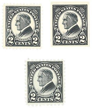 1923 Harding Commemoratives, Set of 3 stamps