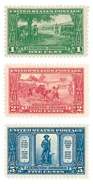 Complete Set, 1925 Lexington-Concord Sesquicentennial