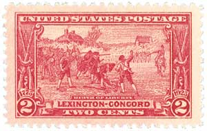 1925 2c Lexington-Concord Issue: Birth of Liberty