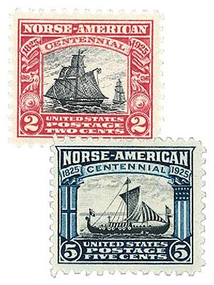 Complete Set,  1925 Norse-American Issue, 2 Stamps