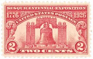 1926 2c Sesquicentennial Exposition: Liberty Bell