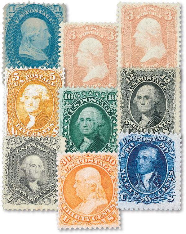 Complete Set, 1861-62 Issue