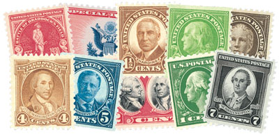 1926-32 10 Classic Mint US Stamps