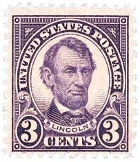 1926-28 3c Lincoln, violet