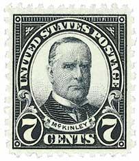 1927 7c McKinley, black