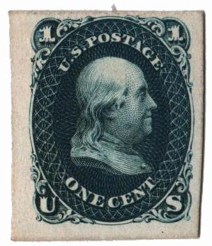 1861 1c blue