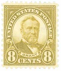 1927 8c Grant, olive green