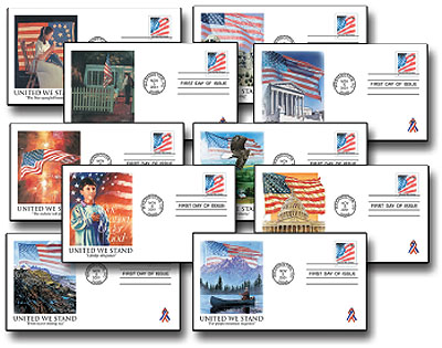 2001 United We Stand PSA FDCs/10