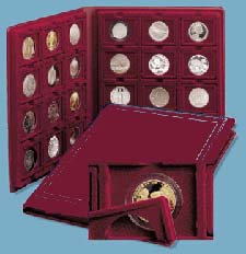 2003 Crown Coin Album-Burgundy (24 Coins)