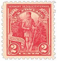 1927 2c Vermont Sesquicentennial