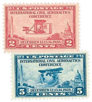 1928 International Civil Aeronautics Conference - set of 2