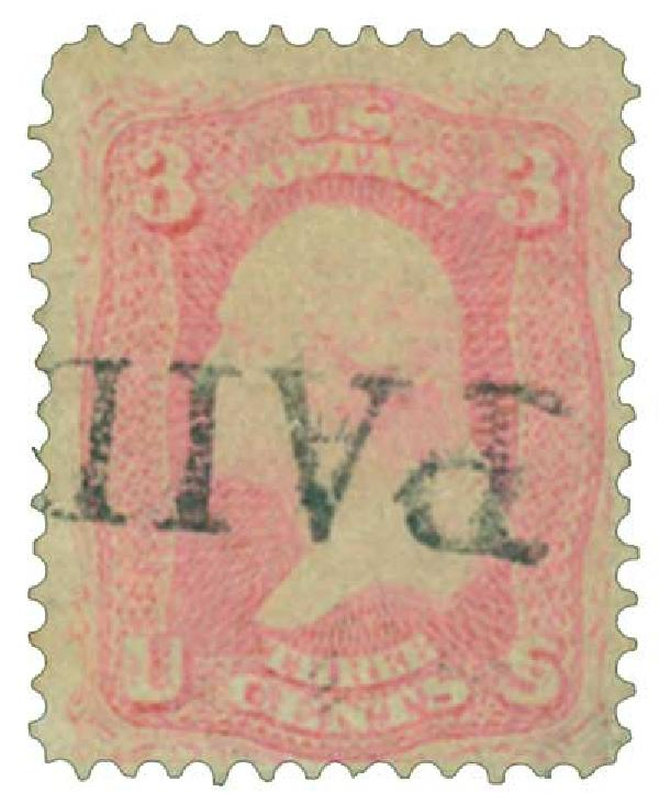 1861 3c pigeon blood pink