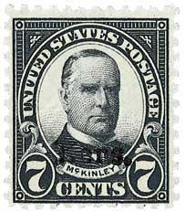 1929 7c McKinley, black, Kansas-Nebraska overprints