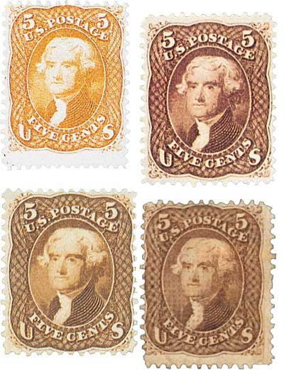 1861-67 5c Jefferson series