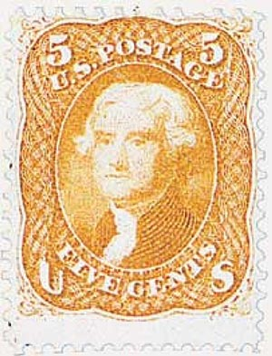 1861-62 5c Jefferson, buff
