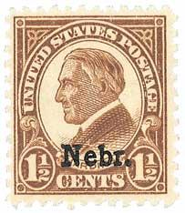 1929 Harding 1-1/2c brown