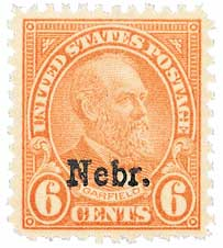 1929 6c Garfield, red orange, Kansas-Nebraska overprints