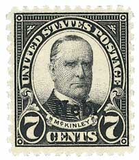 1929 7c McKinley, black, Kansas-Nebraska overprints