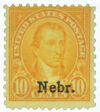 1929 Monroe 10c orange yellow