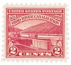 1929 2¢ Ohio River Canalization stamp