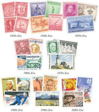 80 Year US Commemoratives, collection of 273 stamps