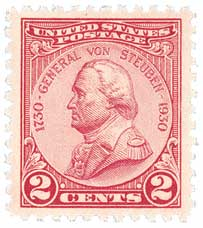 U.S. #689 was issued for General von Steuben's 200th birthday.