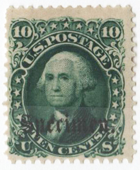 1861-66 10c dark green