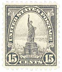 1931 15c Statue of Liberty, gray