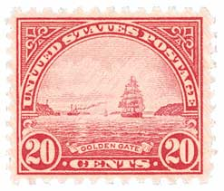 1931 Golden Gate stamp