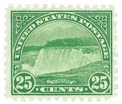 1931 Niagara Falls 25c blu/grn