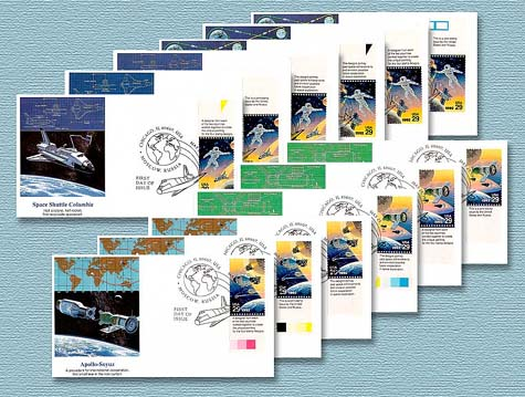 1992 Space Joint Issue FDC Tab set of 12