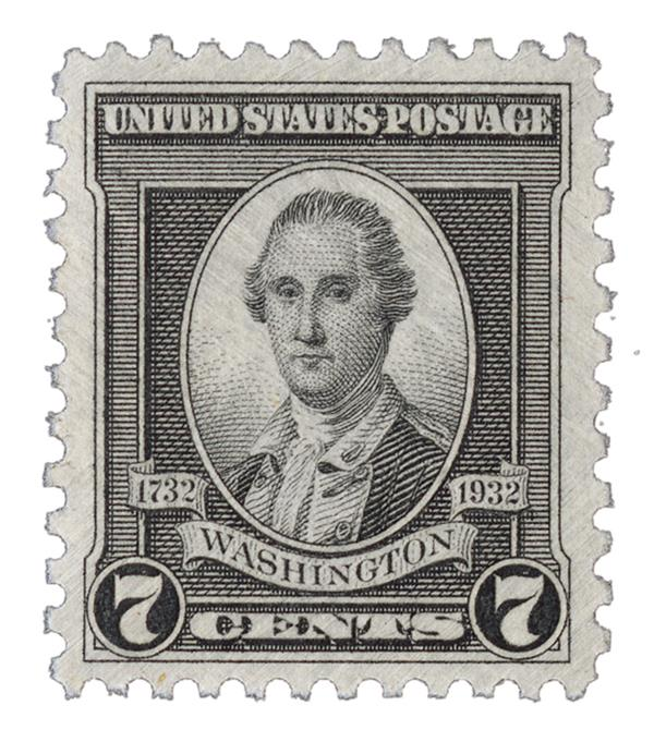 1932 Washington Bicentennial: 7c Washington by John Trumbull