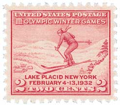1932 2c Third Olympic Winter Games