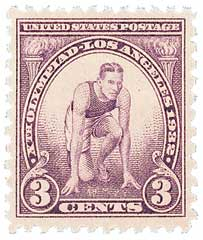1932 3c 10th Summer Olympic Games: Runner at Starting Mark