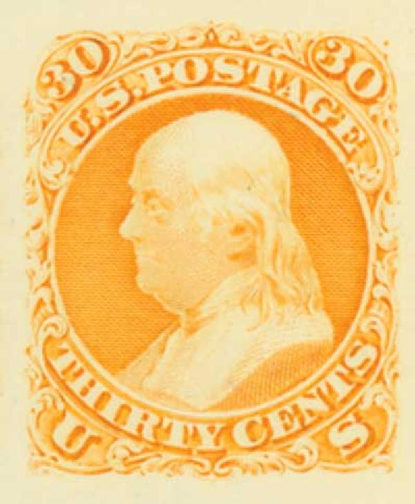 1861 30c Plate Proof on India Paper