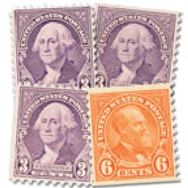 Complete Set, 1932 Washington & Garfield set of 4