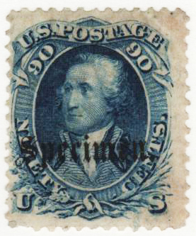 1861-66 90c blue