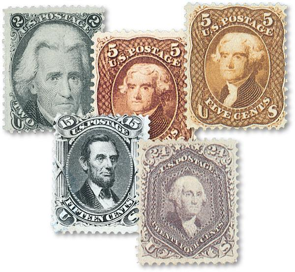 Complete Set, 1861-66 Issue