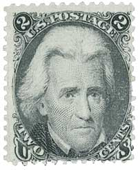 1863 2c Jackson, black
