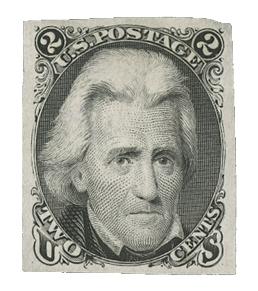 1861-67 2c black, die I