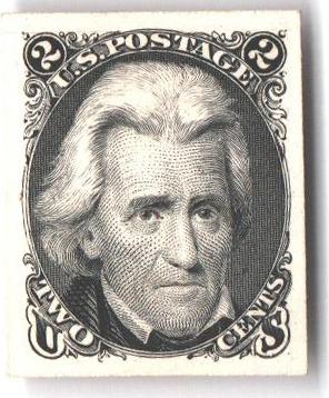 1861-67 2c black, die II