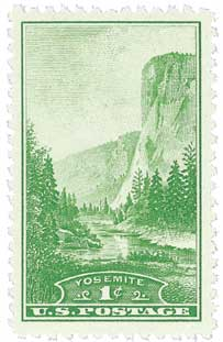 1934 1c National Parks: Yosemite, California