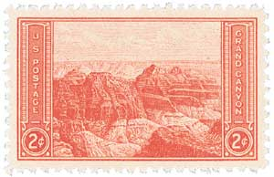 1934 2c National Parks: Grand Canyon, Arizona