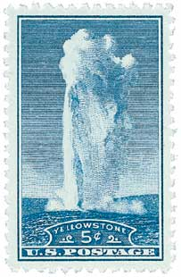 1934 5c National Parks: Yellowstone, Wyoming