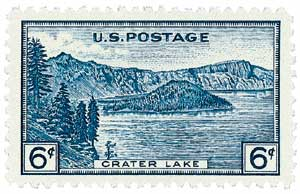 1934 6c National Parks: Crater Lake, Oregon