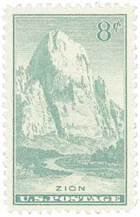 1934 8c National Parks: Zion, Utah